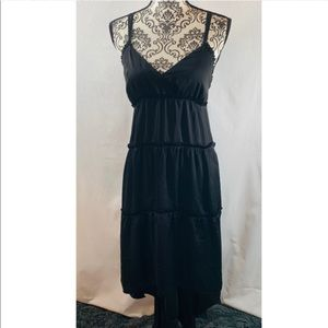 Banana Republic Black Strap Hi-Low Dress